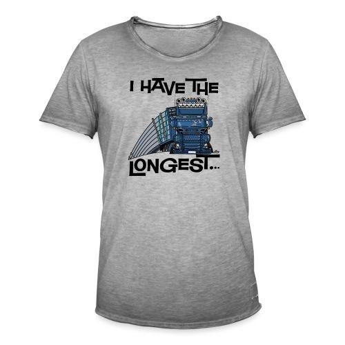0780 S Truck I have the longest loads (FRONT+BACK) - Mannen Vintage T-shirt