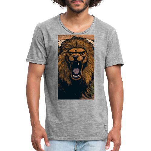 Lion grin - Männer Vintage T-Shirt