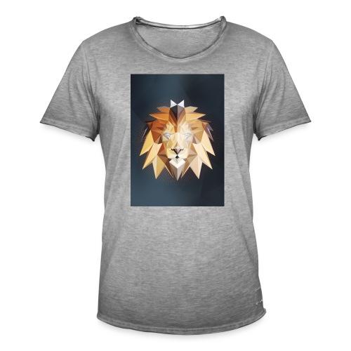 Polygon Lion - Männer Vintage T-Shirt