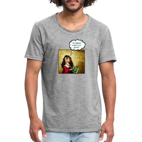 Descartes und der Solipsismus - Männer Vintage T-Shirt