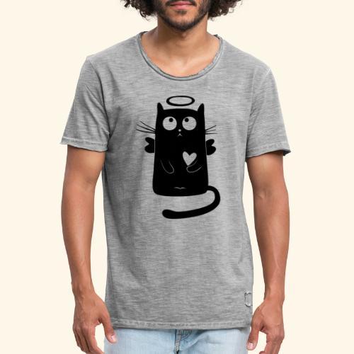 Gato angelical - Camiseta vintage hombre