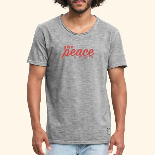give peace a chance - Herre vintage T-shirt