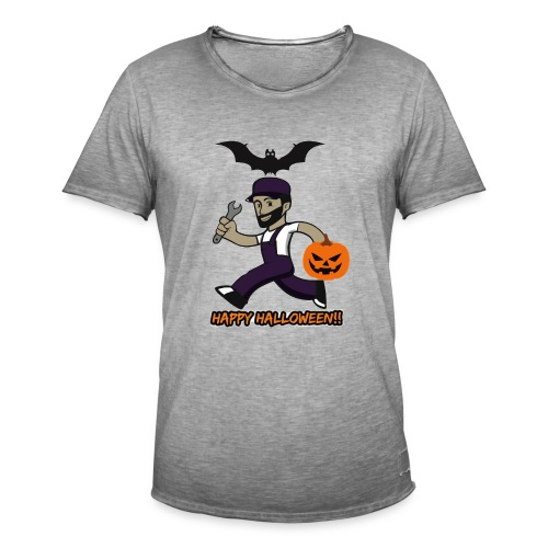 Halloween Buck - Mannen Vintage T-shirt