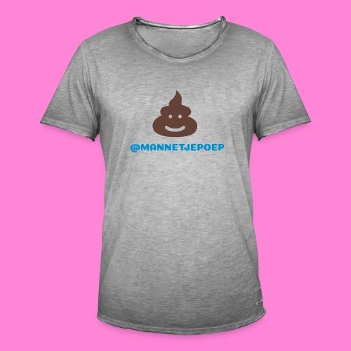 Mannetje Poep Shit - Mannen Vintage T-shirt