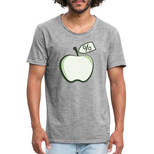Sund på budget logo til mørke produkter - Herre vintage T-shirt