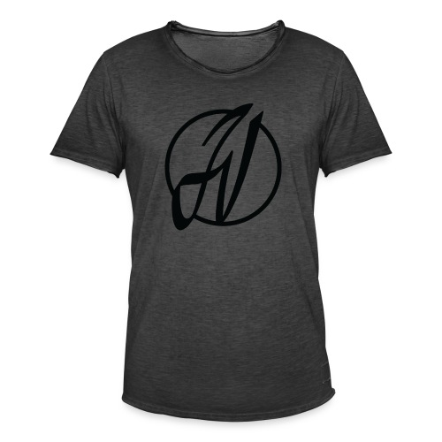 JV Guitars - logo noir - T-shirt vintage Homme