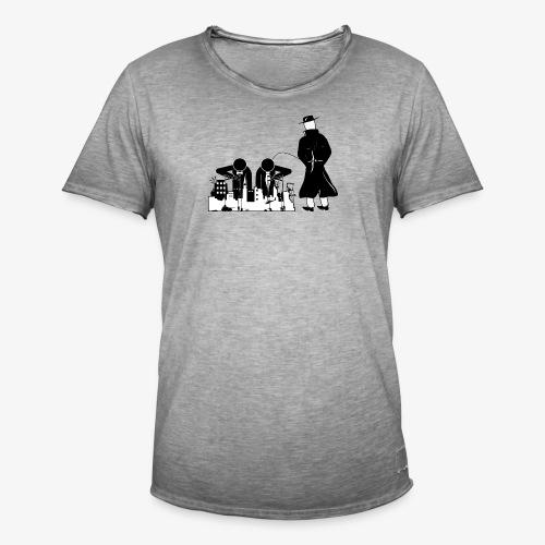 Pissing Man against war - Männer Vintage T-Shirt