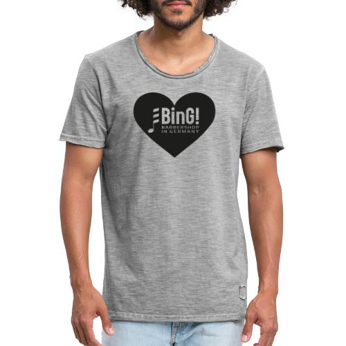 BinG Heart - Männer Vintage T-Shirt