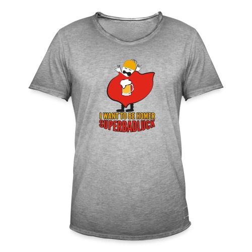superbadluck - HOMER - Maglietta vintage da uomo