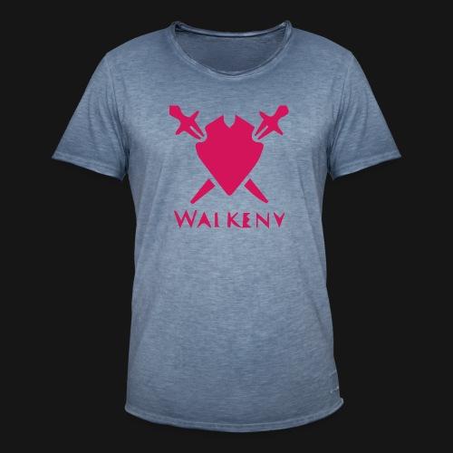 Das Walkeny Logo mit dem Schwert in PINK! - Männer Vintage T-Shirt