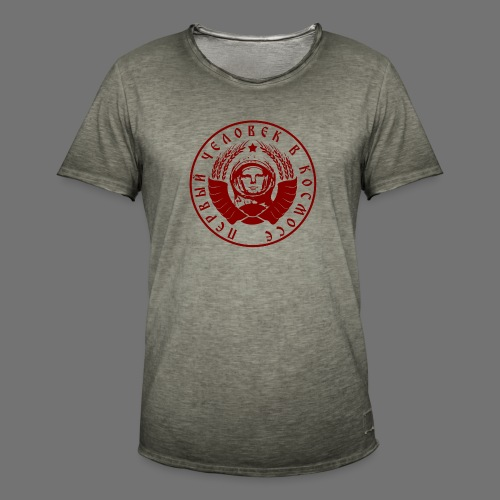 Cosmonaut 1c red - Men's Vintage T-Shirt