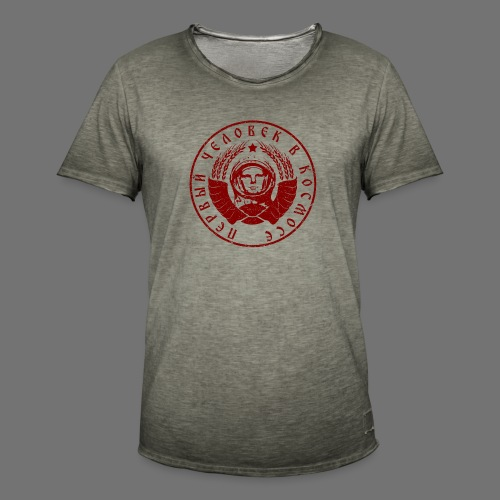 Cosmonaut 1c red (oldstyle) - Men's Vintage T-Shirt