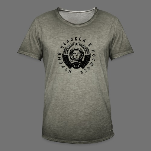 Cosmonaut 1c black (oldstyle) - Men's Vintage T-Shirt