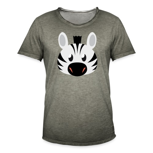 Zebra Zoe - Men's Vintage T-Shirt