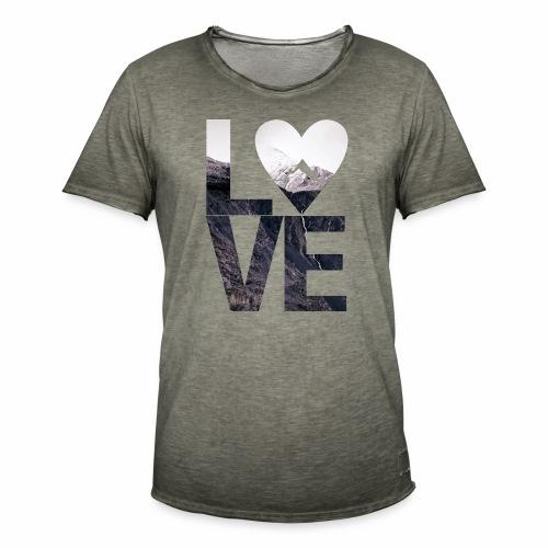 L.O.V.E - Mountains - Männer Vintage T-Shirt