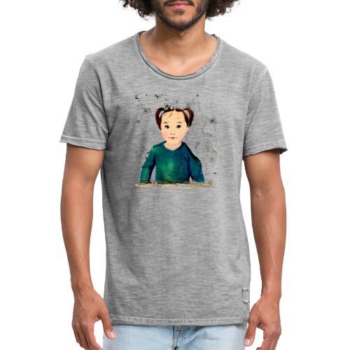 unknown girl - Männer Vintage T-Shirt