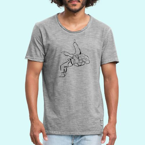 judo - T-shirt vintage Homme