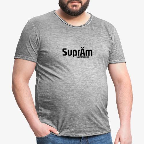 SuprÄm-Saarbrücken | BLACK - Männer Vintage T-Shirt