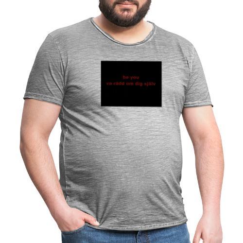 be you - Vintage-T-shirt herr