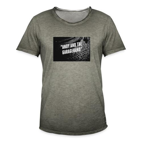 Black and White - Vintage-T-skjorte for menn