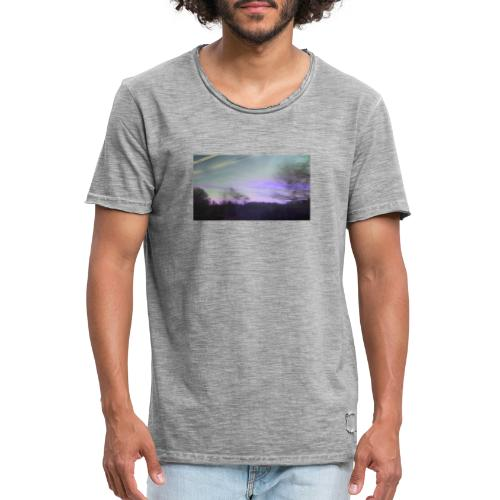 lilac sky - Herre vintage T-shirt