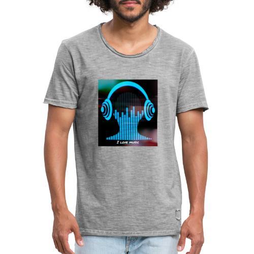 I love music - Camiseta vintage hombre