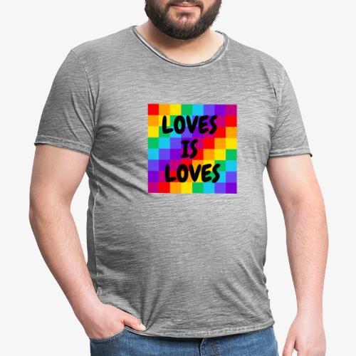 LGBT - Camiseta vintage hombre