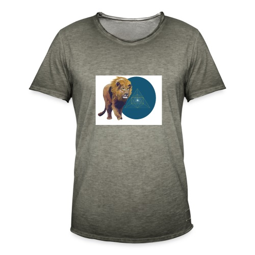 Löwe - Männer Vintage T-Shirt