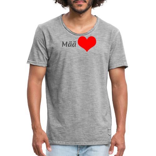 Mää sydän - Miesten vintage t-paita