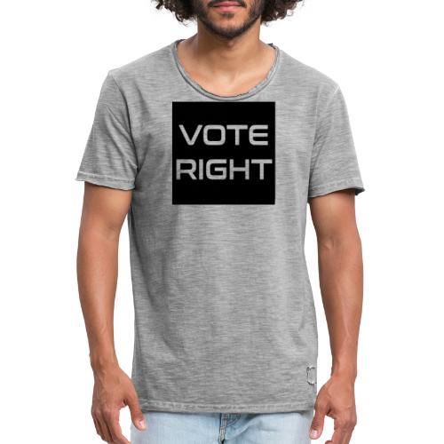 vote right - Männer Vintage T-Shirt