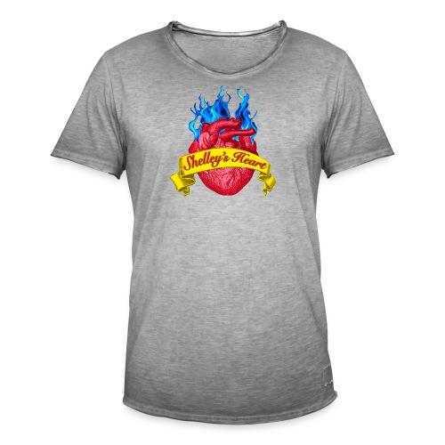 Shelley s Heart Logo - Men's Vintage T-Shirt