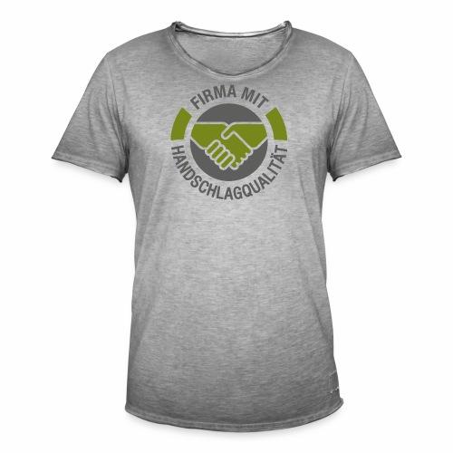 Handschlagqualität Logo grau - Männer Vintage T-Shirt