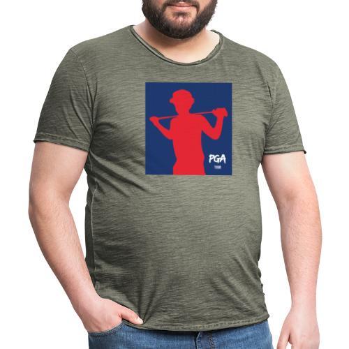 pga newbie blue - Miesten vintage t-paita