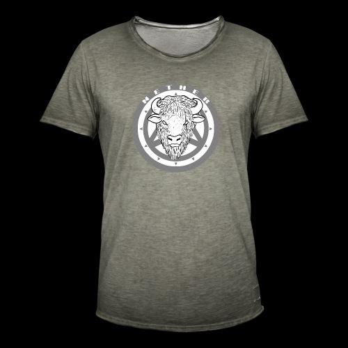 Nether Bison - Maglietta vintage da uomo
