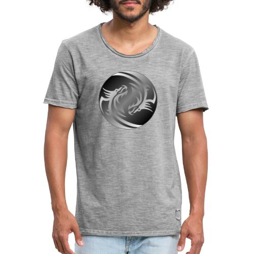 Yin Yang Dragon - Men's Vintage T-Shirt