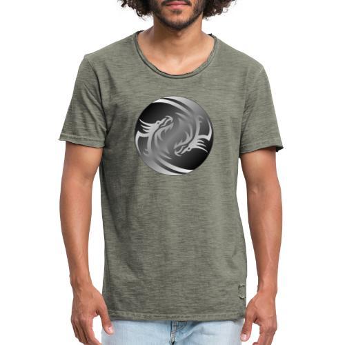 Yin Yang Dragon - Men's Vintage T-Shirt