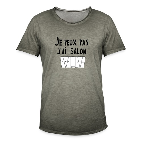 Je peux pas j'ai salon - T-shirt vintage Homme