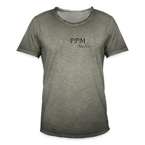 Ppm studios Negro - Camiseta vintage hombre