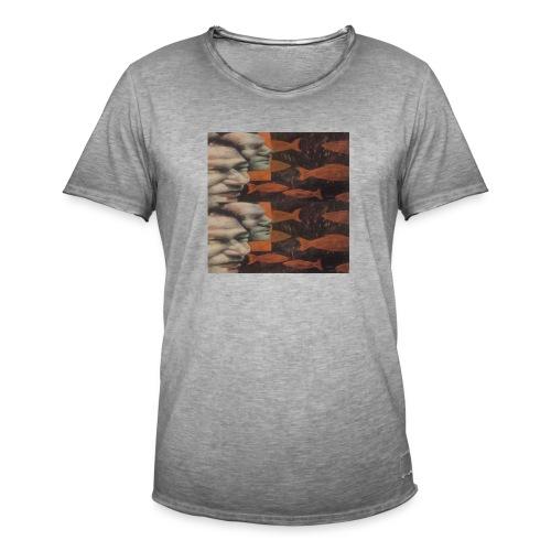 man and fish - Men's Vintage T-Shirt