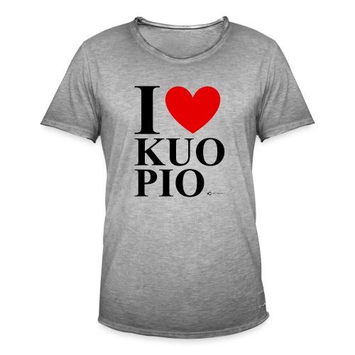 I LOVE KUOPIO ORIGINAL (musta) - Miesten vintage t-paita