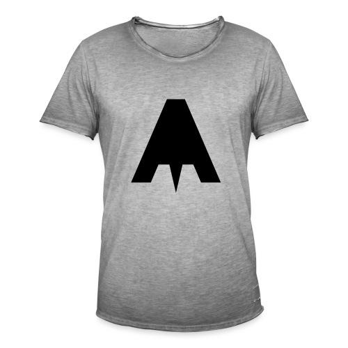 Grafisch Minimal A - Männer Vintage T-Shirt