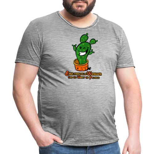 Eine Hirnzelle weniger - Männer Vintage T-Shirt