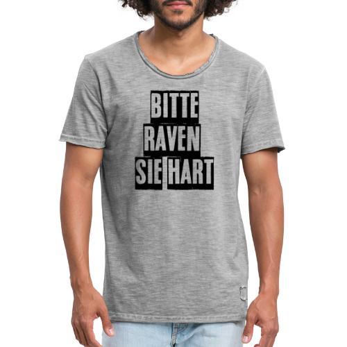bitte raven sie hart1 - Männer Vintage T-Shirt