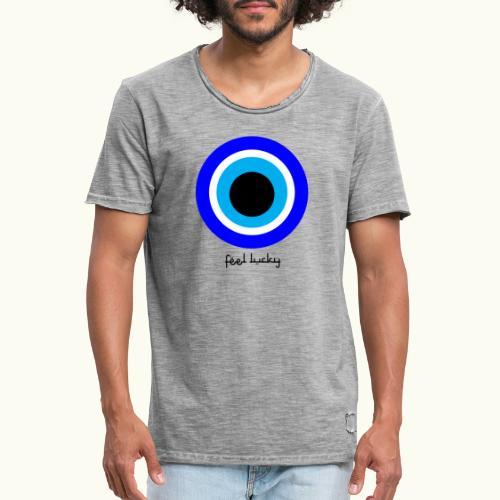 luck eye - Mannen Vintage T-shirt