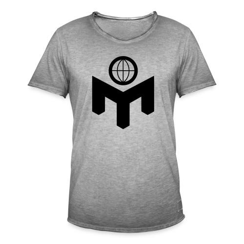 mlogo - Vintage-T-skjorte for menn