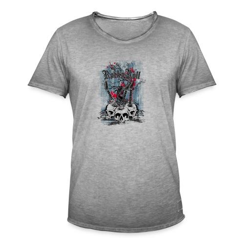 rock n roll skulls - Mannen Vintage T-shirt