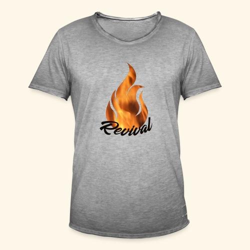 Revival fire - Vintage-T-skjorte for menn
