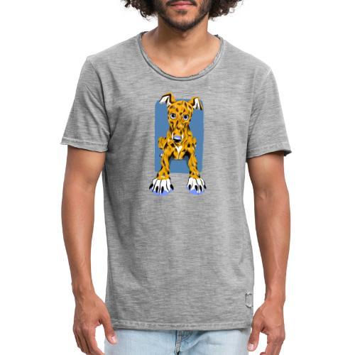 HUG Greyhound Pup - Men's Vintage T-Shirt