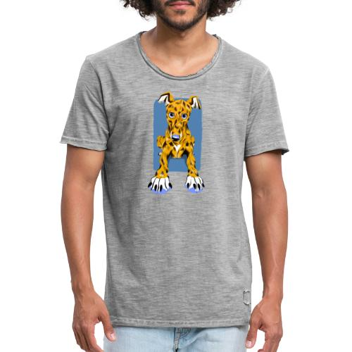 HUG Greyhound Pup - Men's Vintage T-Shirt