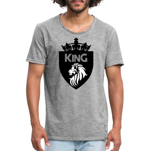 king - T-shirt vintage Homme